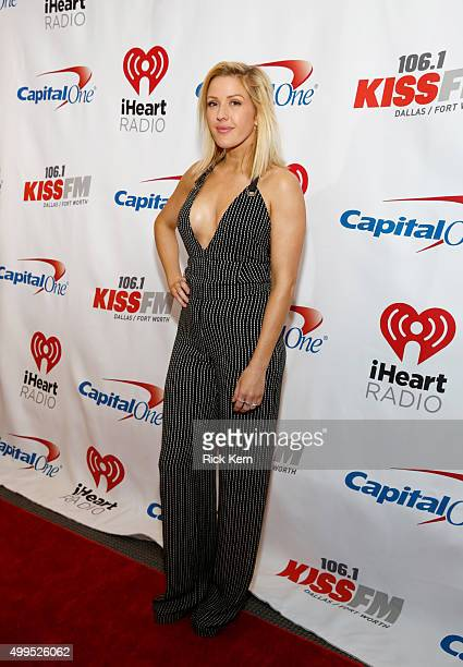 Singer/songwriter Ellie Goulding attends 1061 KISS FM's Jingle Ball 2015 presented by Capital One at American Airlines Center on December 1 2015 in...