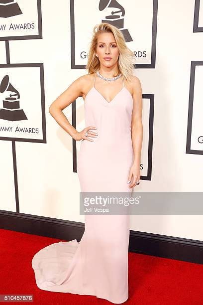 Singersongwriter Ellie Goulding attends The 58th GRAMMY Awards at Staples Center on February 15 2016 in Los Angeles California