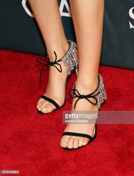 Singersongwriter Ellie Goulding shoe detail attends The Sean Penn Friends Haiti Takes Root Benefit Dinner Auction Supporting J/P Haitian Relief...