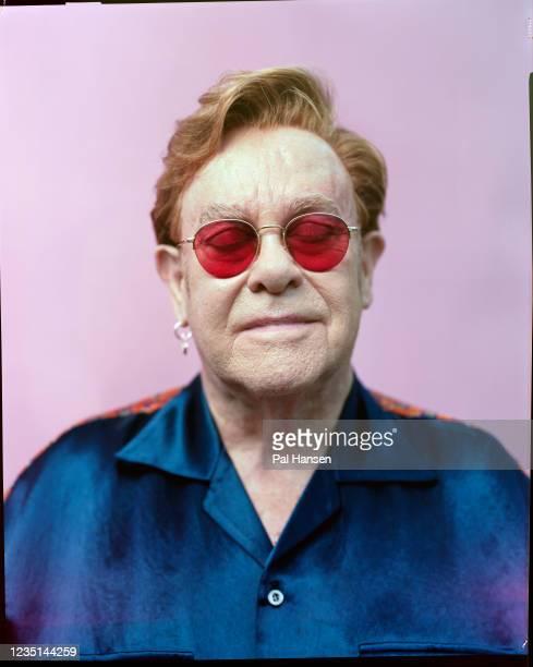 Singer-songwriter Elton John is photographed for the Observer on June 14, 2021 in Windsor, England.