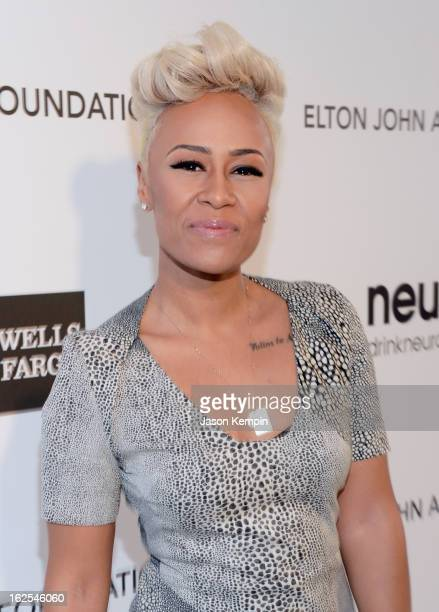 Singer/songwriter Emeli Sande attends the 21st Annual Elton John AIDS Foundation Academy Awards Viewing Party at West Hollywood Park on February 24...