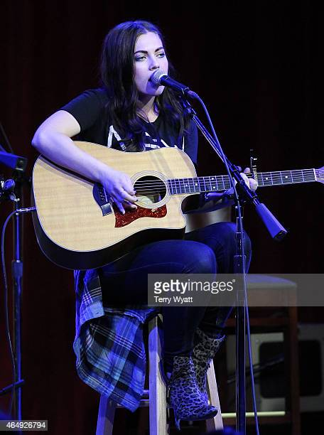 Singersongwriter Emily Weisband performs during The Girls of Winter benefit show at the City Winery Nashville on March 1 2015 in Nashville Tennessee