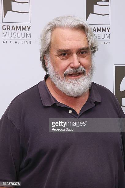 Singer/songwriter Emitt Rhodes attends The Drop Emitt Rhodes at The GRAMMY Museum on February 25 2016 in Los Angeles California