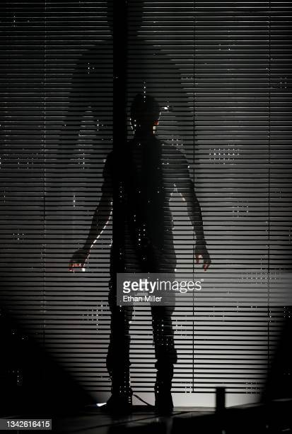 Singer/songwriter Enrique Iglesias casts a shadow as he takes the stage on opening night of the Enrique Iglesias and Ricky Martin Live in Concert...
