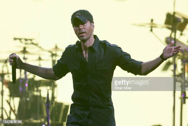 Singer/songwriter Enrique Iglesias performs on opening night of the Enrique Iglesias and Ricky Martin Live in Concert tour at MGM Grand Garden Arena...