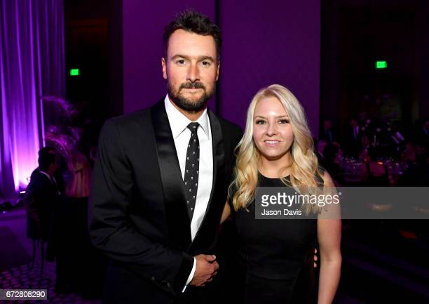 Singersongwriter Eric Church and Katherine Blasingame Church attend Best Cellars Wine Dinner hosted by TJ Martell Foundation on April 24 2017 in...