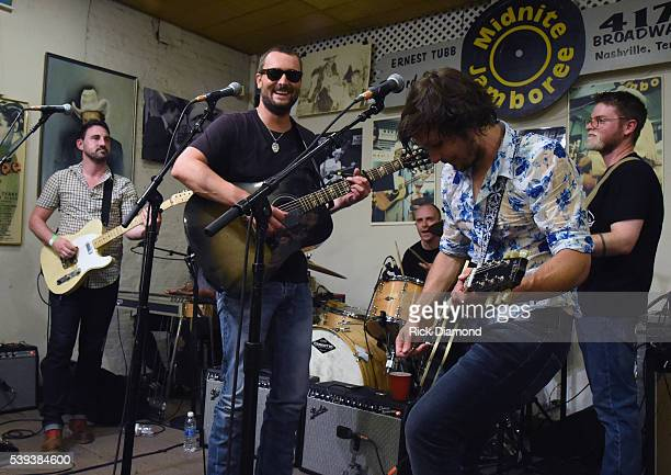 Singer/Songwriter Eric Church joins Singer/Songwriter Charlie Worsham on stage during Midnight Jam Day 2 at Ernest Tubb Record Store on June 10 2016...