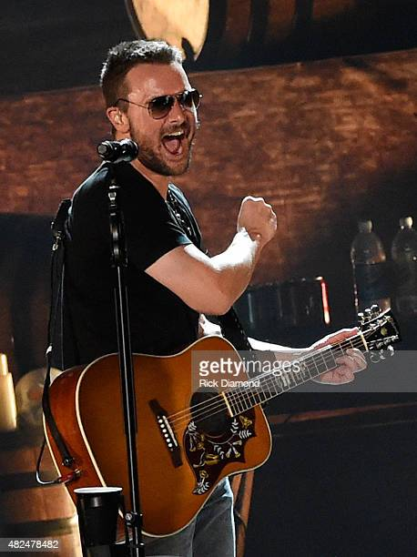 Singer/Songwriter Eric Church opens the new Ascend Amphitheater with the first of two sold out solo shows on July 30 2015 in Nashville Tennessee