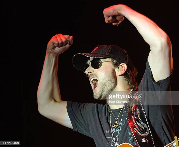 Singer/Songwriter Eric Church performs during The 2011 Country Stampede at Tuttle Creek State Park on June 23 2011 in Manhattan Kansas