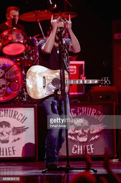 Singer/songwriter Eric Church performs onstage during the 2014 iHeartRadio Music Festival at the MGM Grand Garden Arena on September 20, 2014 in Las...