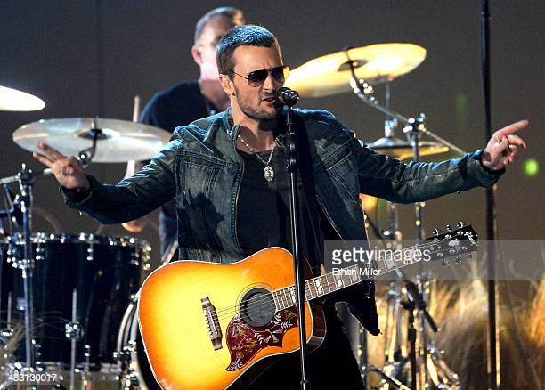 Singer/songwriter Eric Church performs onstage during the 49th Annual Academy of Country Music Awards at the MGM Grand Garden Arena on April 6 2014...