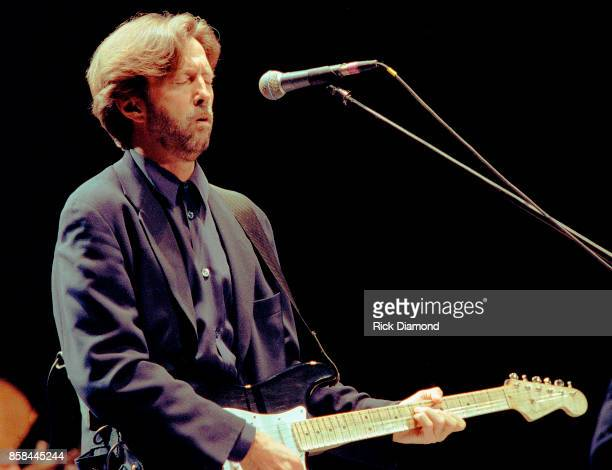 Singer/Songwriter Eric Clapton performs at The OMNI Coliseum in Atlanta Georgia May 23, 1995