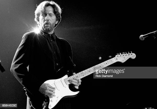 Singer/Songwriter Eric Clapton performs at The OMNI Coliseum in Atlanta Georgia May 23 1995