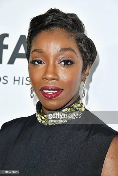 Singer/songwriter Estelle attends amfAR's Inspiration Gala Los Angeles at Milk Studios on October 27, 2016 in Hollywood, California.