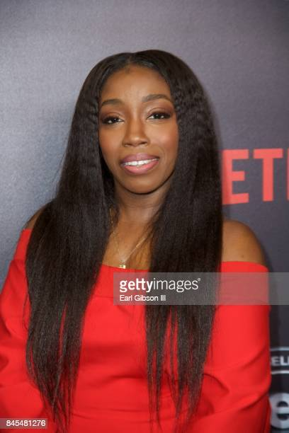 """Singer/songwriter Estelle attends Netflix Presents Russell Simmons """"Def Comedy Jam 25"""" Special Event at The Beverly Hilton Hotel on September 10,..."""