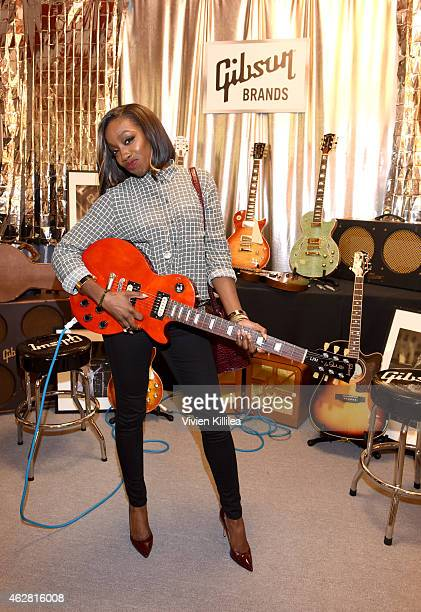 Singer/songwriter Estelle attends the GRAMMY gift lounge during The 57th Annual GRAMMY Awards at the Staples Center on February 5 2015 in Los Angeles...