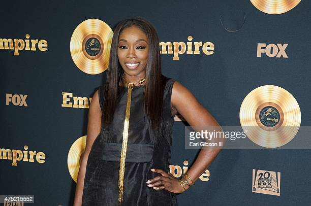 Singer/Songwriter Estelle attends the Television Academy event for Empire A Performance Under The Stars at The Grove on May 29 2015 in Los Angeles...