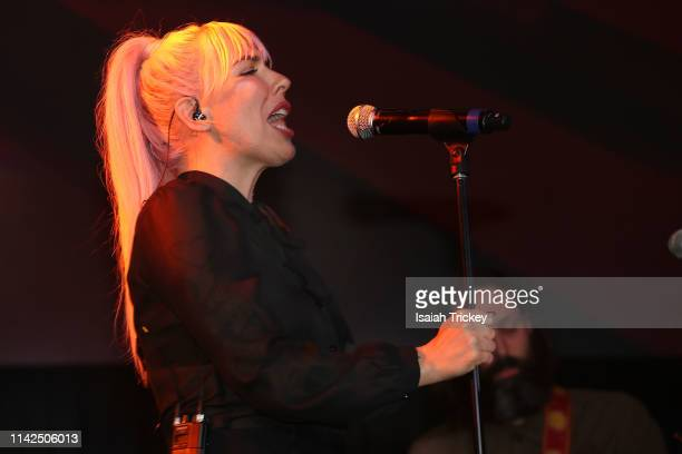 Singersongwriter Esthero performs at the 2019 Canadian Music and Broadcast Industry Awards during Canadian Music Week 2019 at Rebel Entertainment...