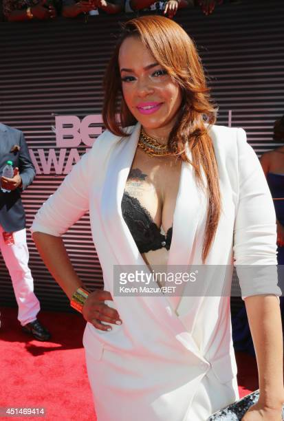 Singer/songwriter Faith Evans attends the BET AWARDS '14 at Nokia Theatre LA LIVE on June 29 2014 in Los Angeles California