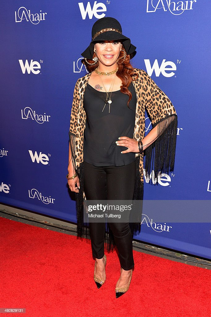 Singer/songwriter Faith Evans attends the premiere event for Season 3 of LA tv's 'L.A. Hair' show at Kimble Hair Studio and Extension Bar on May 21, 2014 in Los Angeles, California.