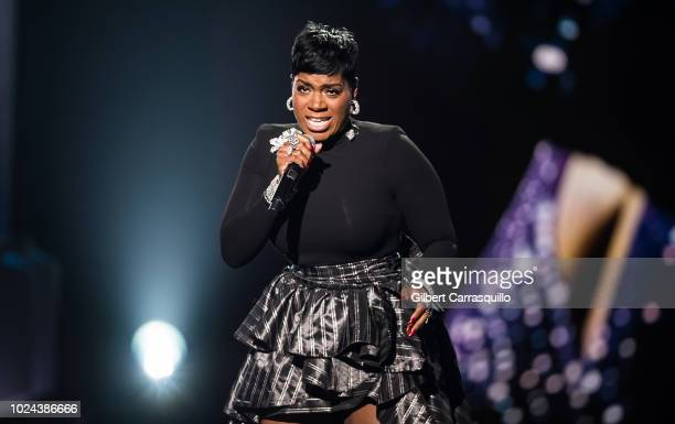 Singersongwriter Fantasia Barrino performs on stage during the 2018 Black Girls Rock at New Jersey Performing Arts Center on August 26 2018 in Newark...