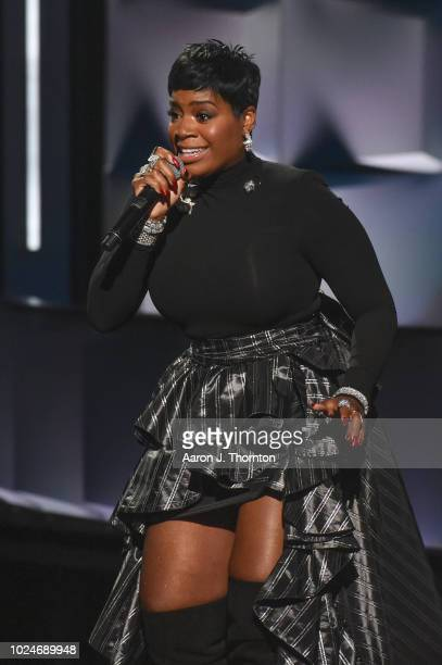 Singer/Songwriter Fantasia Barrino performs on stage during the 2018 Black Girls Rock at New Jersey Performing Arts Center on August 26 2018 in...