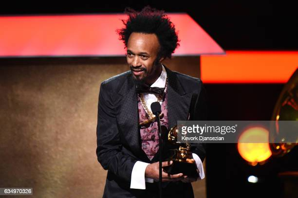 Singersongwriter Fantastic Negrito accepts the award for Best Contemporary Blues Album onstage at the Premiere Ceremony during The 59th GRAMMY Awards...