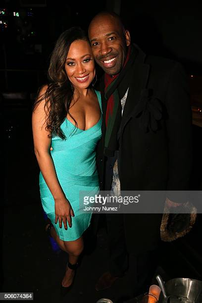Singersongwriter Farrah Franklin and entrepreneur J Alexander Martin attend Mimi Faust's Birthday Party on January 20 in New York City