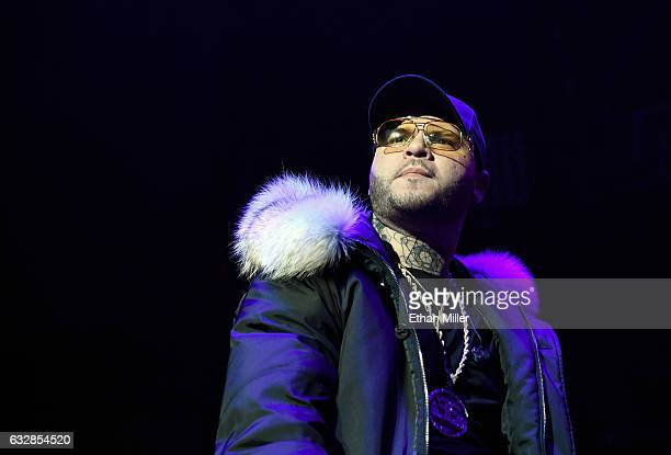 Singer/songwriter Farruko performs during Calibash Las Vegas at TMobile Arena on January 26 2017 in Las Vegas Nevada