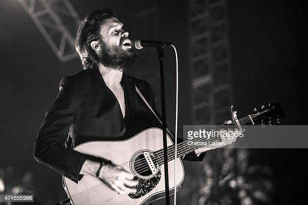 Singersongwriter Father John Misty performs at the Coachella Valley Music and Arts Festival at The Empire Polo Club on April 11 2015 in Indio...