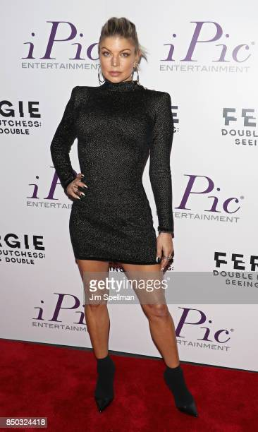 Singer/songwriter Fergie attends the 'Fergie Double Dutchess Seeing Double the Visual Experience' onenight premiere at iPic Fulton Market on...