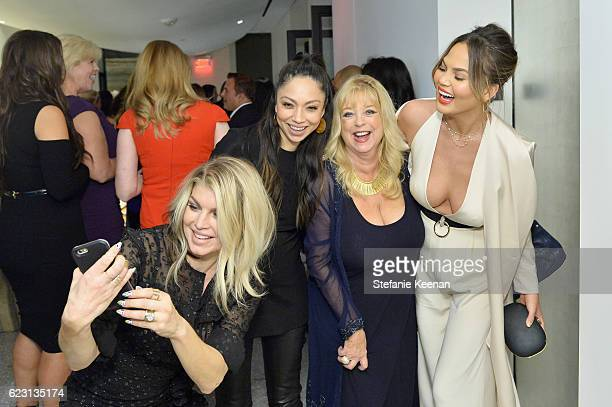 Singersongwriter Fergie celebrity stylist Monica Rose Terri Jackson and model Chrissy Teigen attend Fergie First Lady of Los Angeles Amy Elaine...