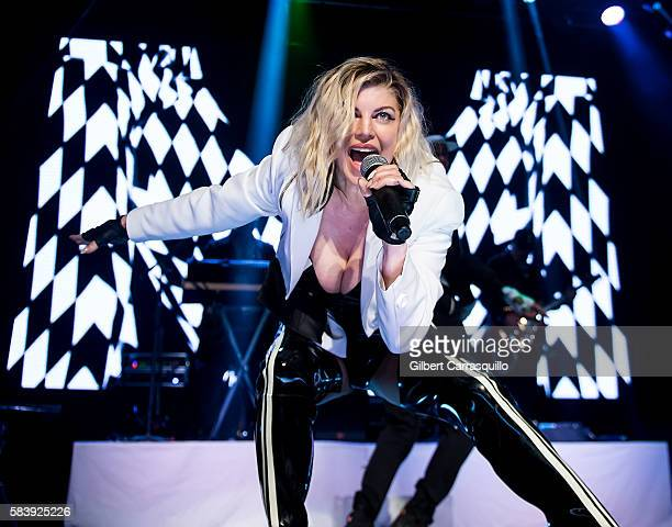 Singersongwriter Fergie performs during The Creative Coalition's Benefit Gala Featuring Fergie at The Electric Factory on July 27 2016 in...