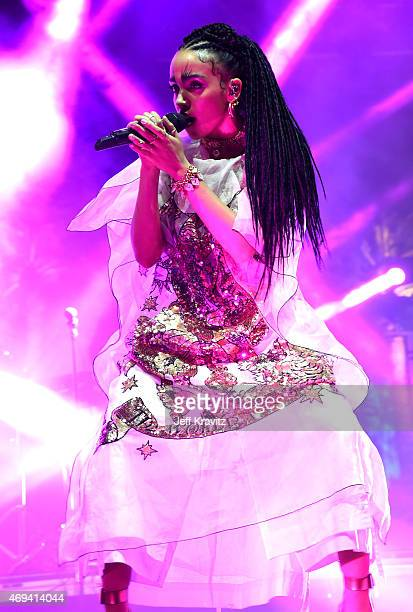 Singer-songwriter FKA Twigs performs onstage during day 2 of the 2015 Coachella Valley Music & Arts Festival at the Empire Polo Club on April 11,...