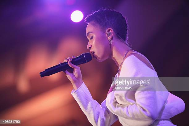 Singersongwriter FKA twigs performs onstage during the 8th Annual GO Campaign Gala at Montage Beverly Hills on November 12 2015 in Beverly Hills...