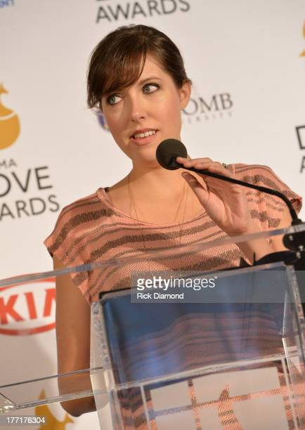 Singer/Songwriter Francesca Battistelli announces nominations for The 44th Annual GMA Dove Awards Nominations Press Conference at Allen Arena,...