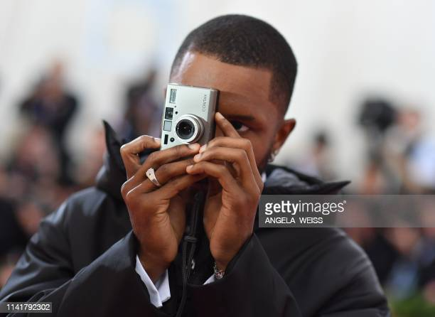 Singer-songwriter Frank Ocean arrives for the 2019 Met Gala at the Metropolitan Museum of Art on May 6 in New York. - The Gala raises money for the...