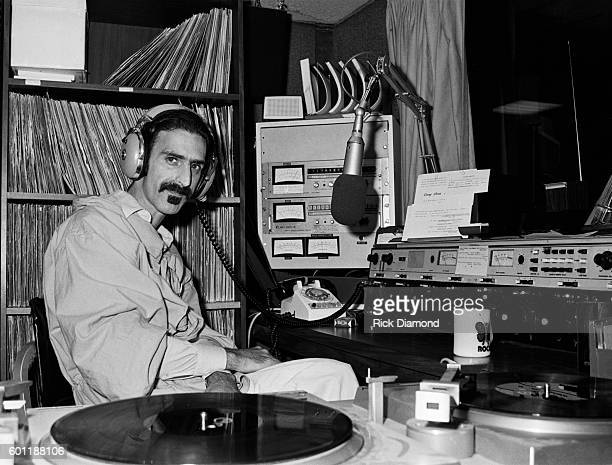 Singer/Songwriter Frank Zappa plays DJ for a day at WKLS 96 Rock in Atlanta Georgia October 25 1981