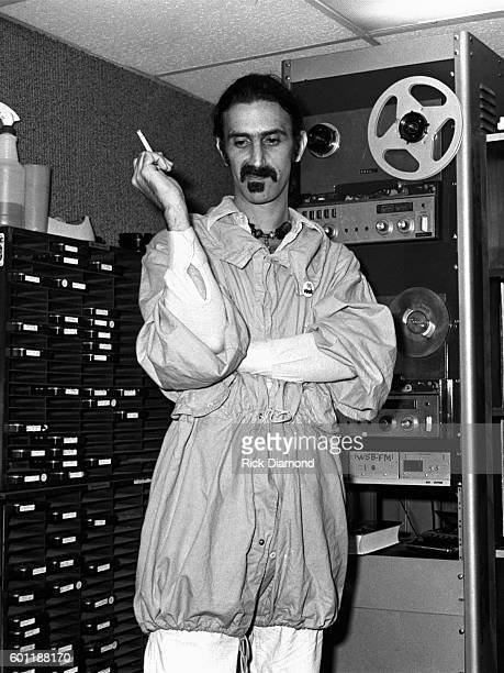 Singer/Songwriter Frank Zappa plays DJ for a day at WKLS 96 Rock in Atlanta Georgia October 25 1981