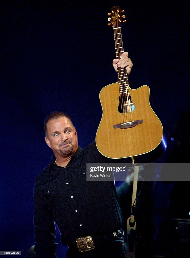 Singer/songwriter Garth Brooks performs at CBS' Teachers Rock Special live concert at the Nokia Theatre L.A. Live on August 14, 2012 in Los Angeles, California.