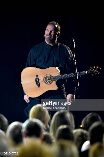 Singersongwriter Garth Brooks performs onstage during the 52nd annual CMA Awards at the Bridgestone Arena on November 14 2018 in Nashville Tennessee