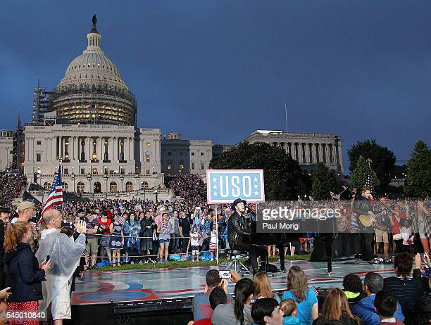 Singer/songwriter Gavin DeGraw performs at A Capitol Fourth concert at the US Capitol West Lawn on July 4 2016 in Washington DC