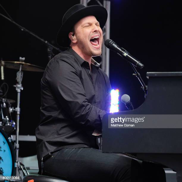 Singersongwriter Gavin Degraw performs live on stage for Fox Friends' AllAmerican Summer Concert Series at FOX Studios on June 23 2017 in New York...