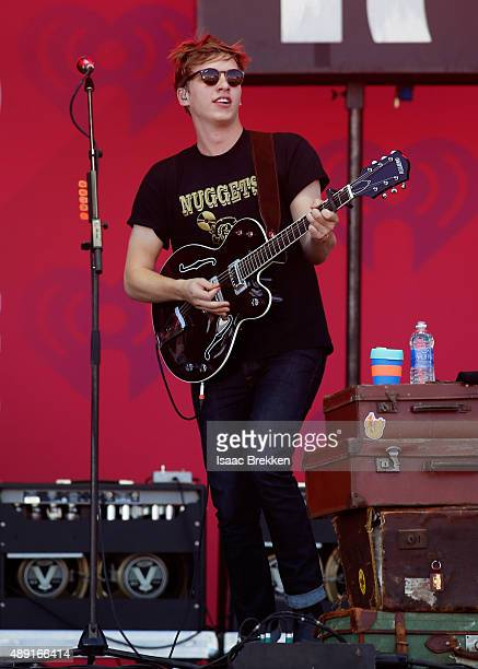 Singer/songwriter George Ezra performs onstage at The Daytime Village during the 2015 iHeartRadio Music Festival at the Las Vegas Village on...