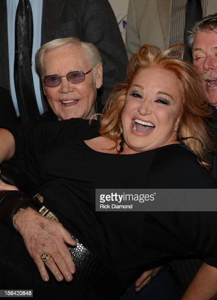 Singer/Songwriter George Jones and Recording Artist Tanya Tucker during the 2012 NATD Honors at The Hermitage Hotel on November 14 2012 in Nashville...