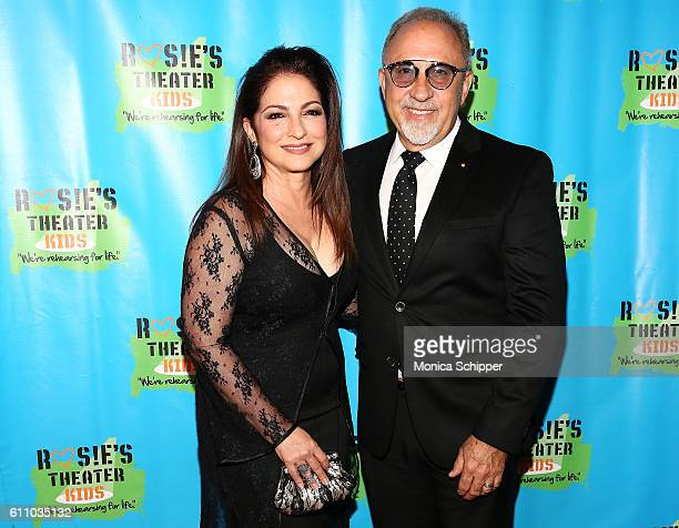 Singersongwriter Gloria Estefan and musician and producer Emilio Estefan attend the 13th Annual Rosie's Theater Kids Gala at New York Marriott...