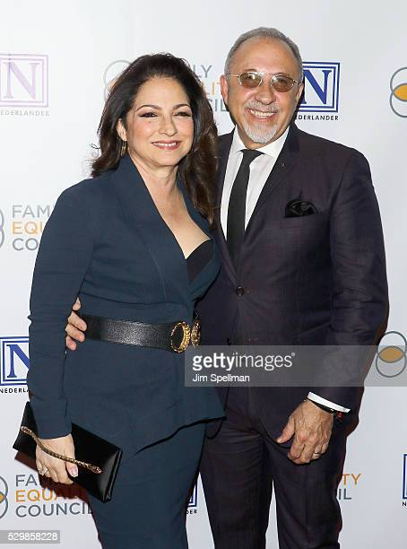 Singer/songwriter Gloria Estefan and musician Emilio Estefan attend the 11th Annual Family Equality Council Night at the Pier at Pier 60 on May 9...