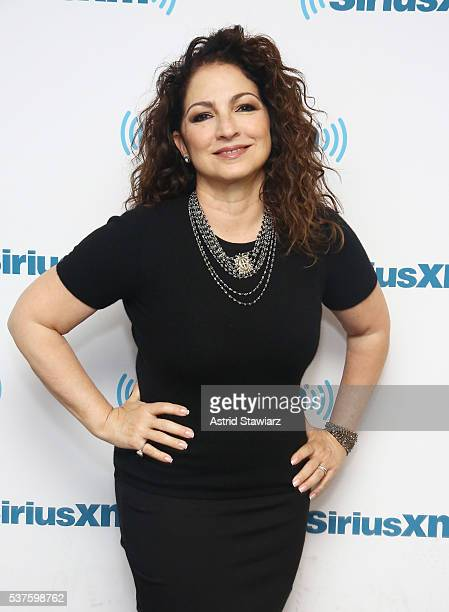 Singersongwriter Gloria Estefan poses for a photo before she sits down with Larry Flick for SiriusXM's 'Leading Ladies' series at the SiriusXM...