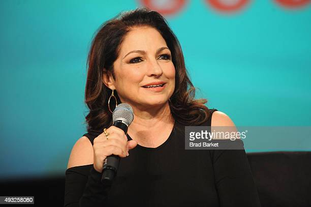 Singersongwriter Gloria Estefan speaks onstage during Festival PEOPLE En Espanol 2015 presented by Verizon at Jacob Javitz Center on October 18 2015...