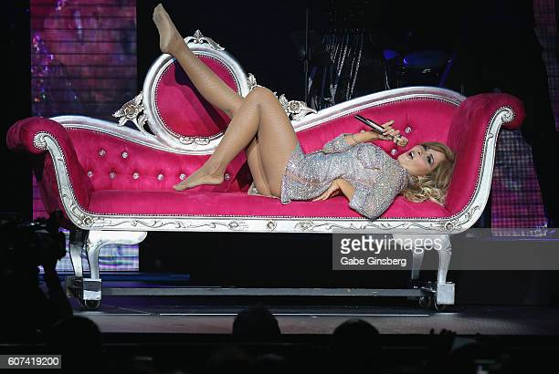 Singer/songwriter Gloria Trevi performs as she kicks off the second leg of her El Amor Inmortal world tour at The Chelsea at The Cosmopolitan of Las...